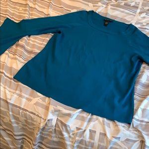 Teal Bell Sleeve Sweater- INC
